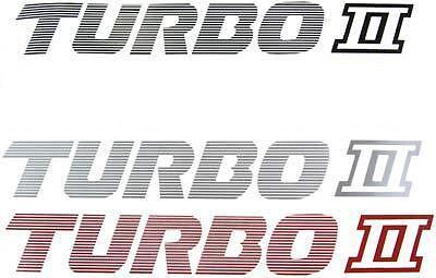 New 87-91 Mazda RX-7 TURBO 2 Side Fender Decal Pair RX7 FC FC3S 13BT TURBO II T2