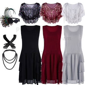 Chiffon-1920s-Flapper-Dress-Gatsby-Wedding-Party-Formal-Evening-Prom-Maxi-Dress