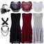 Chiffon-1920s-Flapper-Dress-Gatsby-Wedding-Party-Formal-Evening-Prom-Maxi-Dress miniature 1