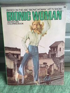 Bionic-Woman-adventure-Coloring-Book-1976-TV-HTF-Unused-Old-Store-Stock