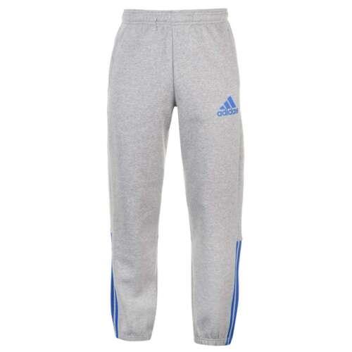 Mens adidas 3 Stripe Jogging Pants Fleece Bottoms New