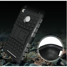 For Xiaomi Redmi 3s Prime Kickstand Hybrid Tough Armor Back Case Cover Black