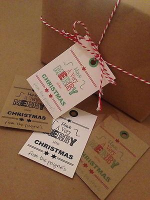 18 Personalizzato Vintage / Retrò / Rustic Natale Etichette Merry Little Christmas-rustic Christmas Tags Merry Little Christmas It-it