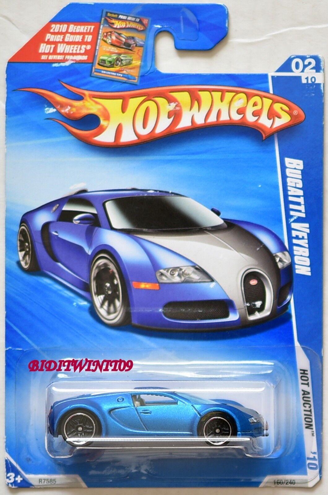 HOT WHEELS 2010 HOT AUCTION BUGATTI  VEYRON  02 10