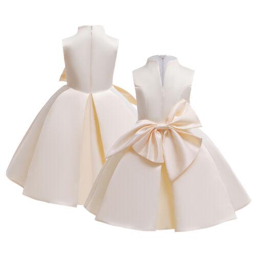 Flower Girl Princess Dress Wedding Party Formal Ball Gown Tutu Dresses For Kids