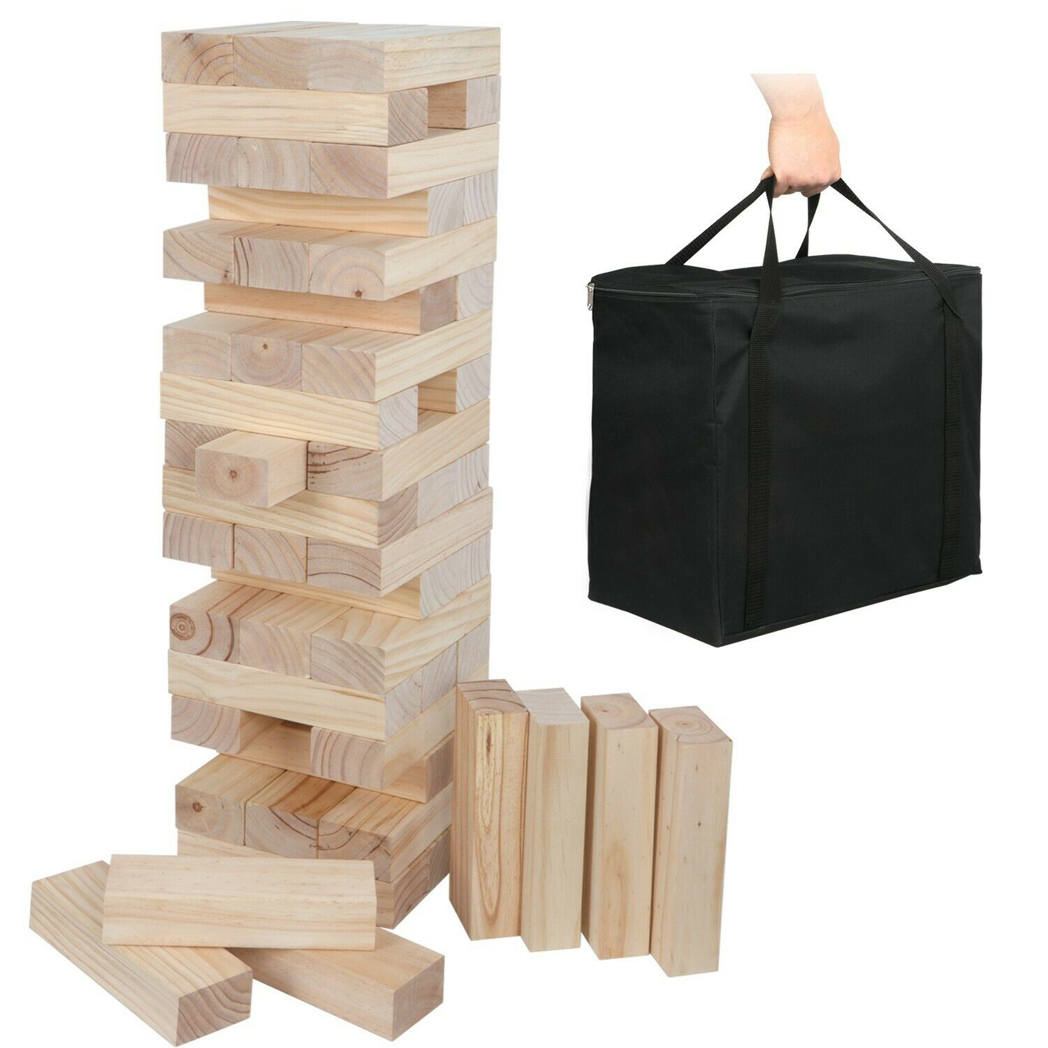 Toppling Tower - Giant No Print Version - With Carrying Bag 54 Pieces