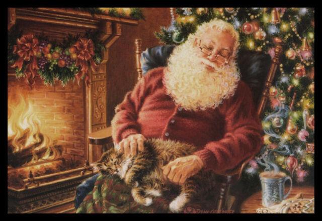 888-MSA Cat Kitten Tabby Thinking Of You Greeting Card NEW