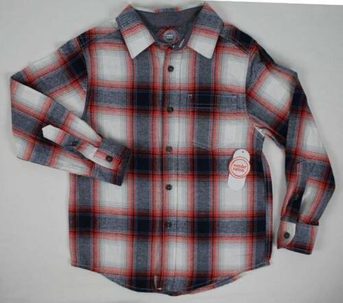 Boys Flannel Shirt Size 4-5 XS Top Long Sleeve Button Up School Clothes Plaid