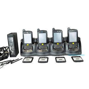 LOT OF 4x MC55 MC5590-PU0DUQQA7WR Motorola 1D/2D WiFi WM6 Barcode Scanner