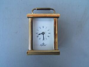 Brass-mantel-clock-3-034-tall-heavy-Imperial-working-nice-little-clock