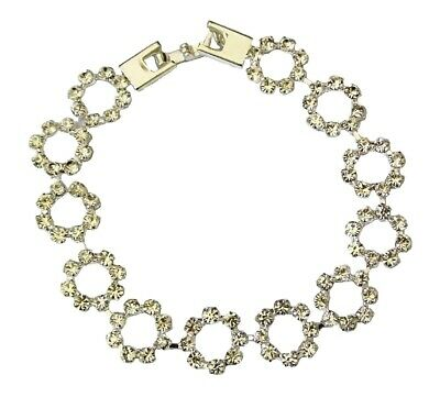 Silver Diamonte Bracelet Party or wedding wearDispatched within 1 w//day