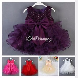 Baby-Girls-Kid-Toddler-Princess-Birthday-Wedding-Party-Pageant-Flower-Gown-Dress