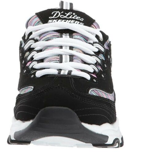 Negro Informal Skechers Deportivo Mujer Dlites Zapatos Multicolor PAAqUwT
