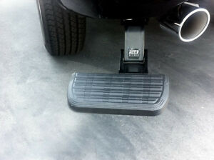 AMP Research 75310-01A BedStep Retractable Bumper Step for 2009-2018 Ram 1500 with Dual Exhaust
