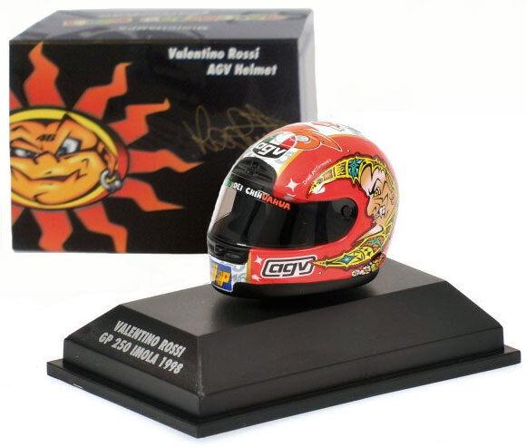 Web oficial Minichamps Valentino Rossi Casco-GP 250 Imola Imola Imola 1998 1 8 Escala  auténtico