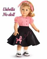 American Girl Doll Maryellen's Poodle Skirt Set Outfit In Box No Doll
