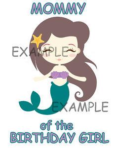 Little Mermaid # 10-8 x 10 Tee Shirt Iron On Transfer
