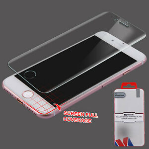 FULL COVERAGE Tempered Glass Screen Protector for Apple iPhone 7 & 7 PLUS