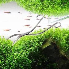 Pro Stainless Steel Curve Aquarium Live Plants Wave Scissors Shear 24cm Durable