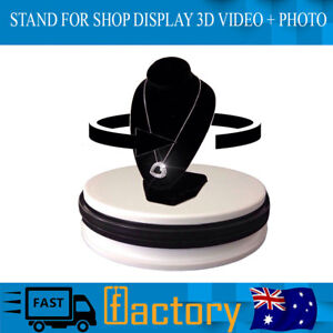 Details about New Shop Display Stand 360 Degree Rotating Turntable 3d Photo  Video Photography