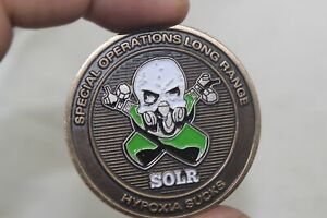 Special Operations Long Range SOLR Hypoxia Sucks Airborne Systems Challenge Coin