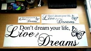 Live-Your-Dreams-Wall-Art-Vinyl-Sticker-Small-Medium-or-Large-Free-P-amp-P
