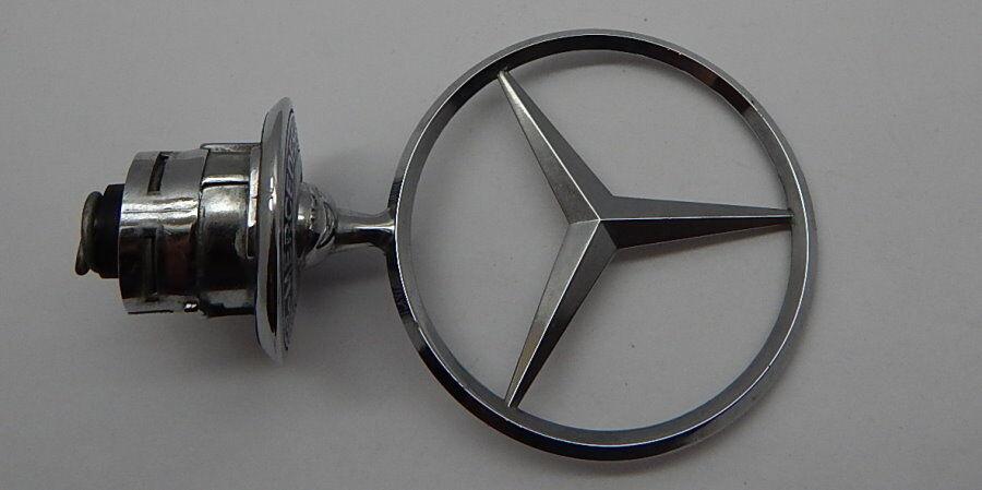GENUINE M-BENZ Front Hood Chrome Star Emblem Logo Sign  R11349