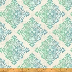 Quilting-Fabric-Mariposa-Teal-and-Blue-Pattern-Windham-Fabrics-Per-Yard