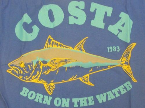 New Authentic Costa Del Mar, Big Tuna, Royal Blue, SS TShirt Size Small