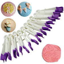 10Pcs Curve Crimpers Style Lace Edge Sides Pastry Cake Decorating Clip Gum Tool