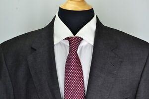 Jos-A-Bank-Signature-Gold-Gordon-Gray-Overcheck-Plaid-Wool-2-Pc-Suit-Sz-43L