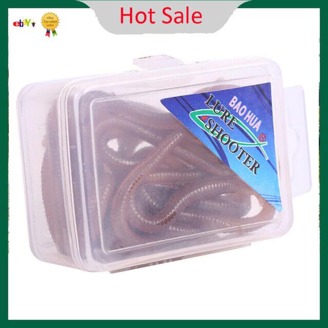 50 Piece Artificial Fishing Bait Rotwurm Soft Plastic Mist Worm own smell