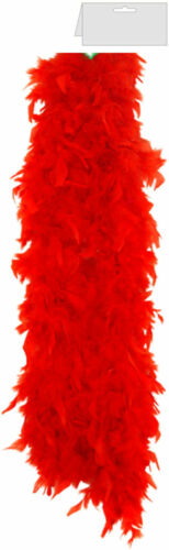 SHOW GIRL FEATHER FAN BOA 150CM RED WHITE BLACK BURLESQUE HEN PARTY FANCY DRESS