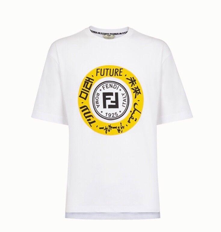 FENDI ROMA Bianco T-shirt T-shirt T-shirt Future eeeaa4