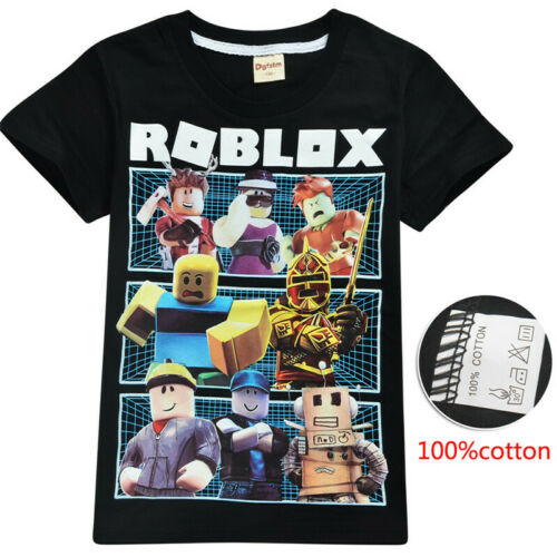 Hot Roblox Kids Fashion Leisure Cartoon Short Sleeve Tops tshirts Cotton Clothes