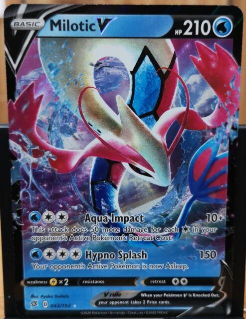 Pokemon Milotic V - Rebel Clash 043/192 Full Art Ultra Rare '
