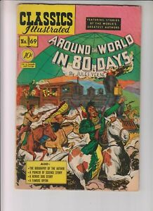 Classics-Illustrated-69-HRN-70-G-2-5-034-Around-the-World-in-80-Days-034-1st-ed