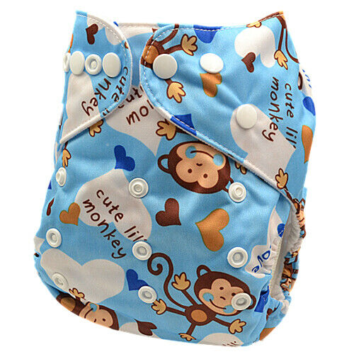 Baby Boy Boyish Reusable Washable Modern Cloth Nappies Diapers Diaper MCN (D24)