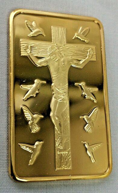 Jesus 10 Commandments Gold Bar Religion God Holy Bible Moses Virgin Mary Pope UK