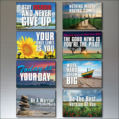 Set 0f 8 Motivational and inspirational quotes Fridge Magnets No.2