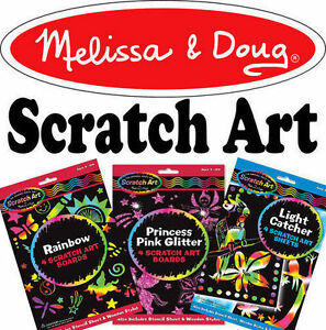 Melissa-amp-Doug-Scratch-Art-Kit-Childrens-Craft-Set-Creative-Toys-Choose-Design