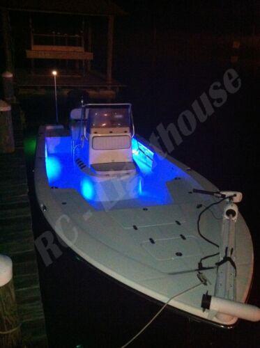 "kayak Red Green Navigation with Blue LED Kit 2x1/' RG 6x6/""B fishing Bass Boat"