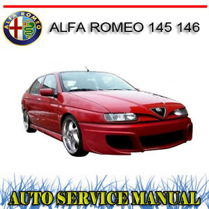 alfa romeo 145 146 1994 2001 repair service manual dvd ebay rh ebay com au Alfa Romeo 166 Alfa Romeo Sad Guinea Pig