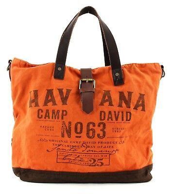 Camp David Ortega River City Shopper Umhängetasche Laptoptasche Orange Neu Verpackung Der Nominierten Marke