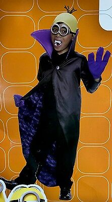 12-14 Minion Dracula black purple yellow costume L Rubies 610782 NWT Minions