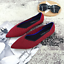 Womens-The-Pointed-Toe-Flats-Environmental-Fashionable-Shoes-Collection thumbnail 3