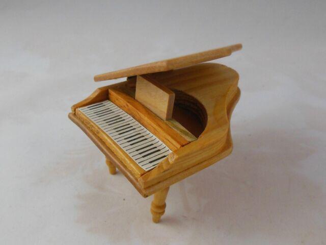 Wood Dollhouse Miniature Baby Grand Piano Ebay