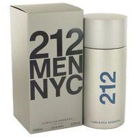 212 By Carolina Herrera 6.7 / 6.8 Oz Edt Cologne For Men In Box on sale