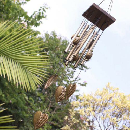 8 Tuben Wind glocken Holz Hof Home Decor Windspiele Glocken Garten Geschenk