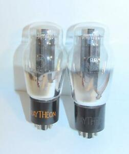 Identical Matched Pair-Raytheon 6L6G amplifier tubes. TV-7 test @ NOS specs